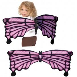 Ali indossabili farfalla rosa